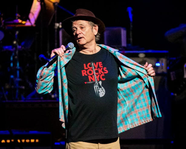 Bill Murray at Love Rocks (March 7, 2019) (photo credit Maria Ives)
