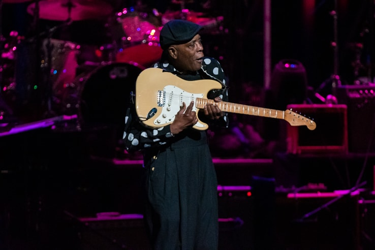 Buddy Guy at Love Rocks (March 7, 2019) (photo credit Maria Ives)