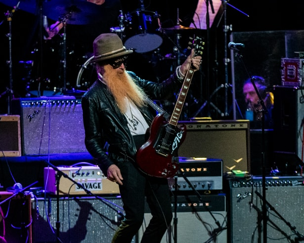 Billy Gibbons of ZZ Top at Love Rocks (March 7, 2019) (photo credit Maria Ives)