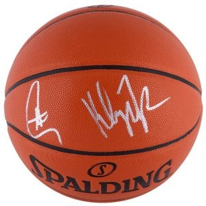 steph curry and klay thompson autographed ball